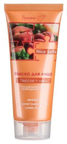 Белита М Nice Selfie Маска для лица Персик+мята 60г