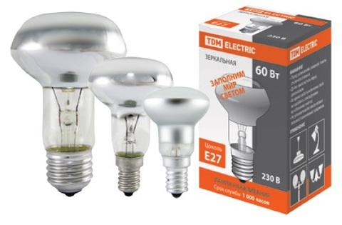 Лампа накаливания зеркальная R50-40 Вт-230 В-Е14 TDM