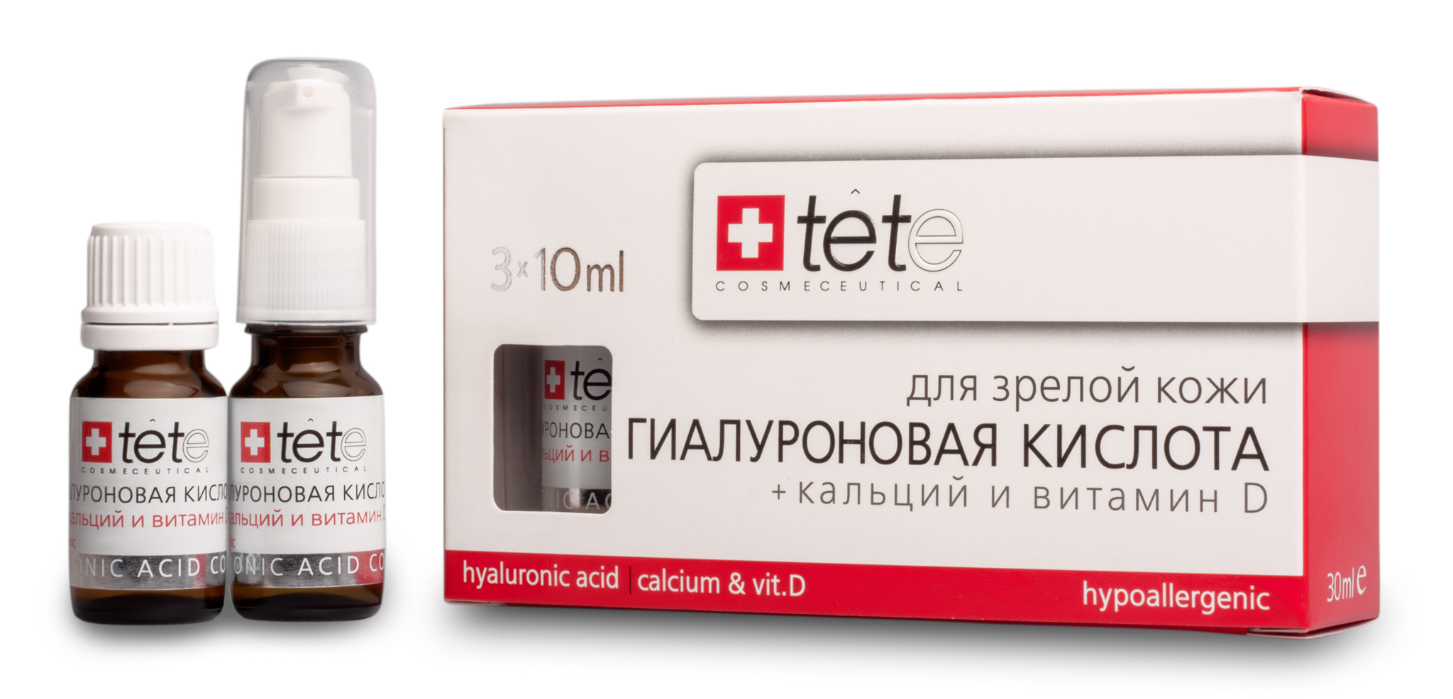 Гиалуроновая кислота + Кальций и Витамин D / TETe Hyaluronic acid + Calcium & Vit.D 3*10 ml