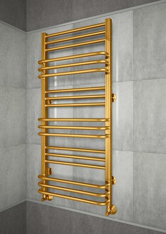 Sorento Gold - золотой полотенцесушитель с удобным расположением перекладин