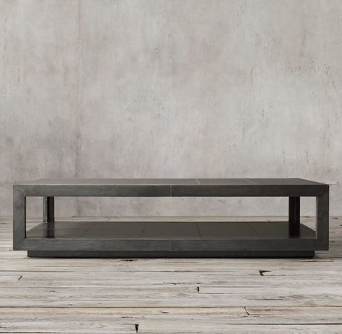 La Salle Metal-Wrapped Coffee Table