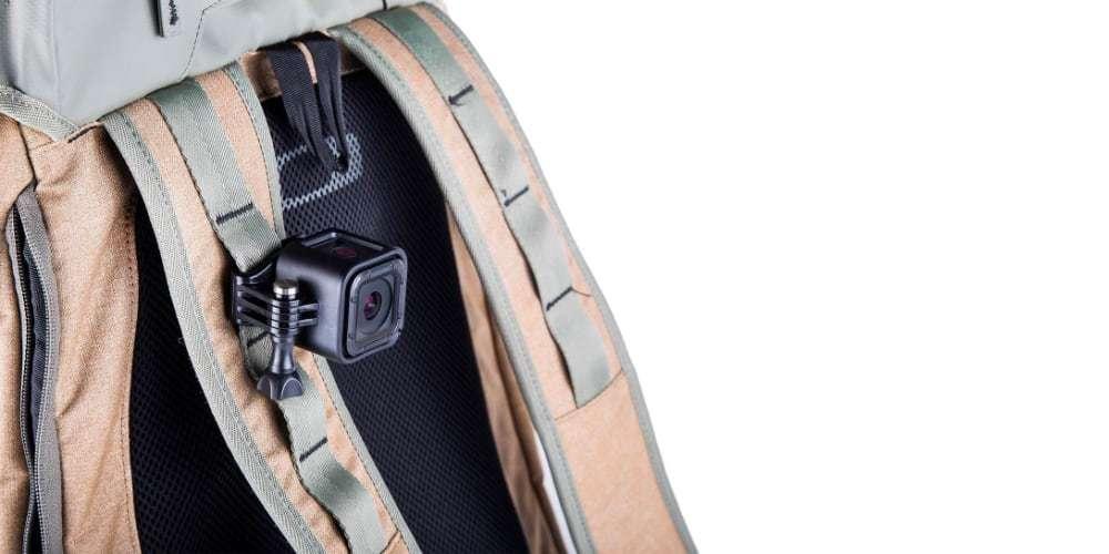 Клипса-зажим для камер GoPro на рюкзаке