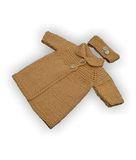 Вязаное пальто - Бежевый. Одежда для кукол, пупсов и мягких игрушек.