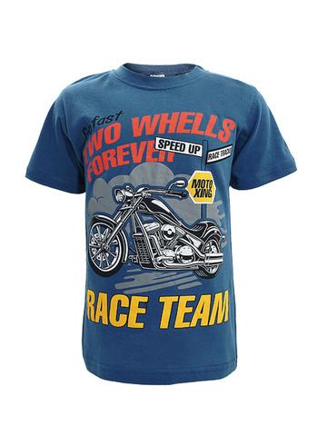 D002-48 футболка для мальчиков, тем. синяя