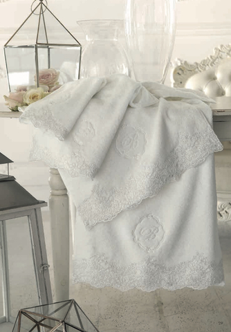 Набор полотенец 5 шт Blumarine Elide молочный