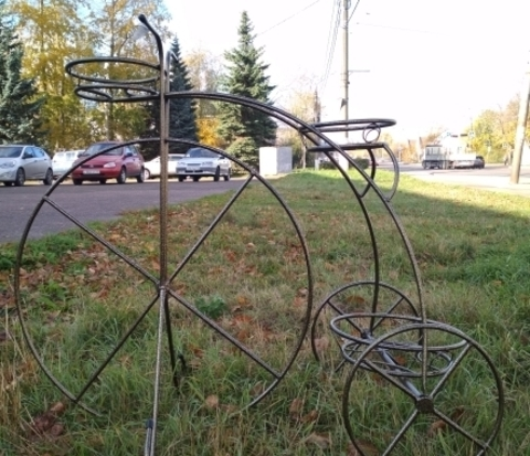 Подставка под цветы Велосипед-3 большой