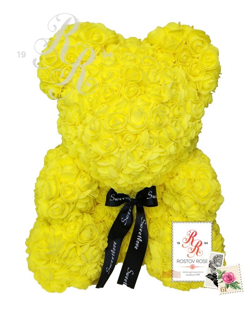 Мишка желтый с бантом