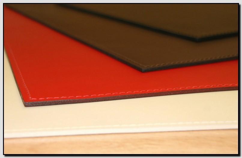 прямоугольный кожаный бювар 35*25 см
