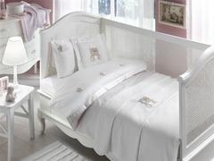 НАБОР ЯСЛИ: Детское  постельное белье с пледом  LOVELY BEBE розовый deluxe TIVOLYO HOME Турция