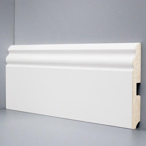 Белый ламинированный плинтус DEARTIO U105-120