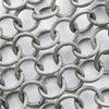Винтажная цепь текстурная с круглым звеном 10 мм (оксид серебра), 10 cм