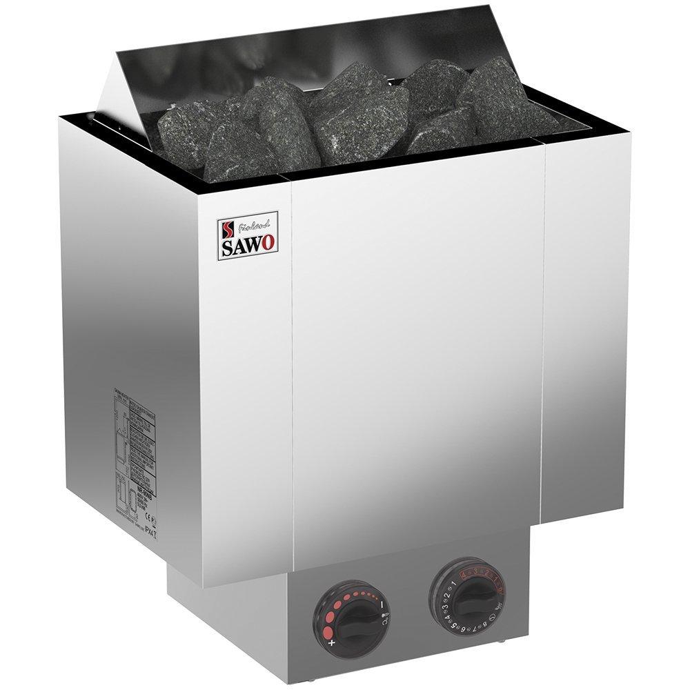 Серия Nordex: Электрическая печь SAWO NORDEX NRX-45NB-Z (4,5 кт, строенный пульт, нутри оцинкока, снаружи нержаейка)