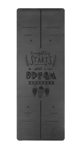 Каучуковый йога коврик Dream Grey c разметкой 185*68*4,5см