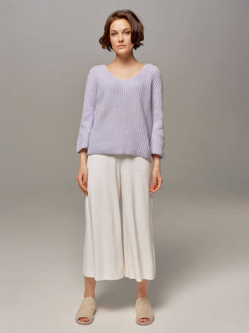 Женский голубой пуловер LE TRICOT - фото 4
