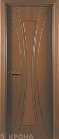 Дверь Крона Эстет, цвет орех, глухая