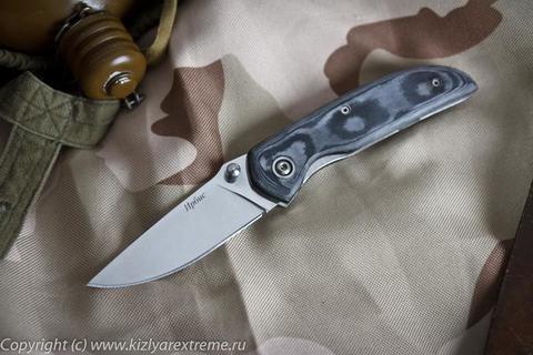 Складной нож Ирбис Полированный Микарта