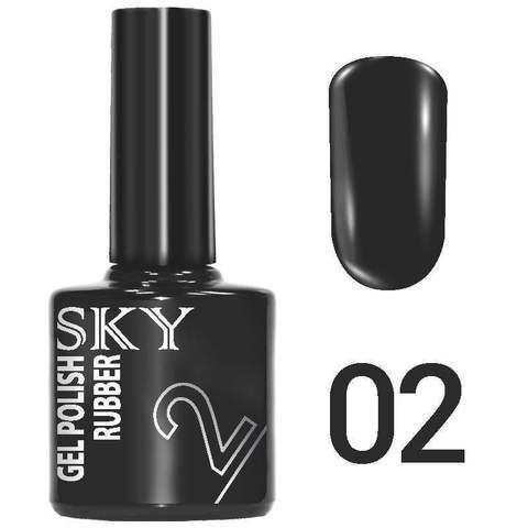 Sky Гель-лак трёхфазный тон №002 (черный) 10мл