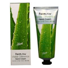 Farmstay Aloe Vera Visible Difference Hand Cream - Крем для рук с экстрактом алоэ