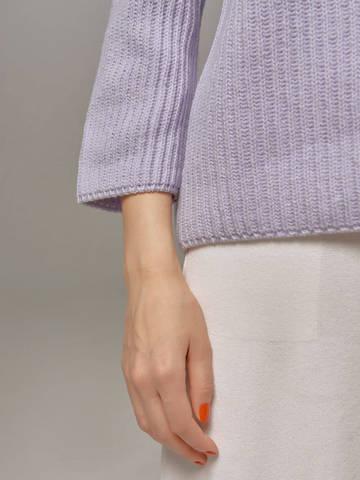 Женский голубой пуловер LE TRICOT - фото 3