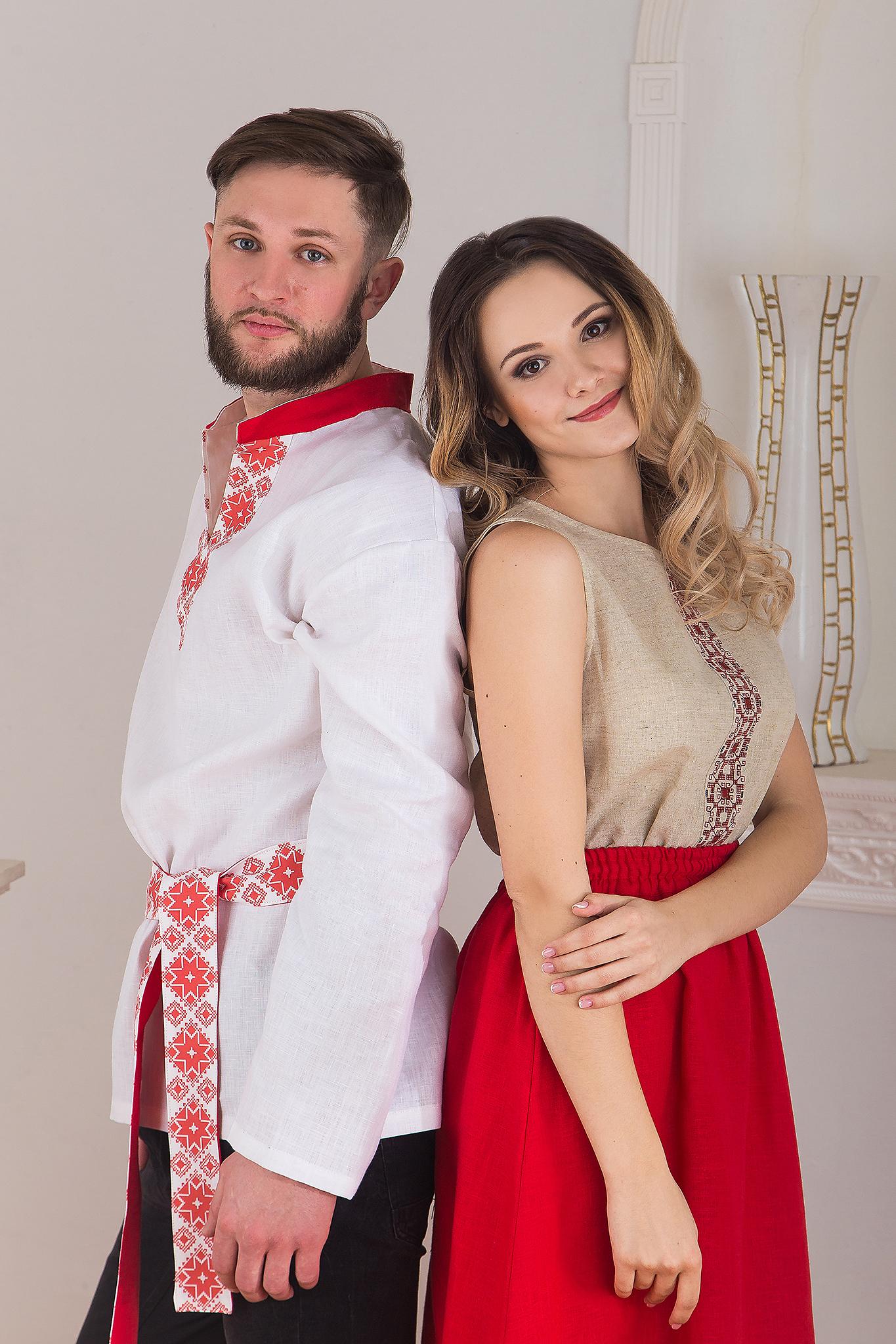 Русская рубаха мужская Воевода от Иванка