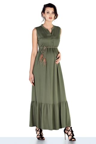 Платье для беременных 10305 серо-зеленый