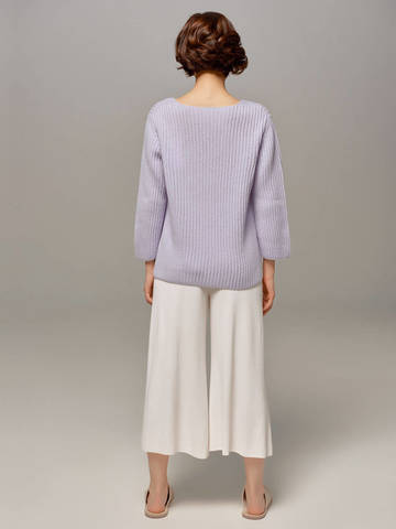 Женский голубой пуловер LE TRICOT - фото 5