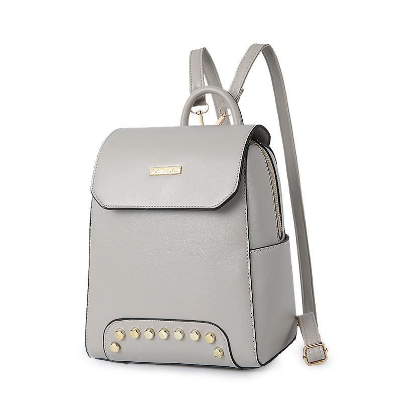 Женский средний рюкзак 22х25х12 см серый 2576-3
