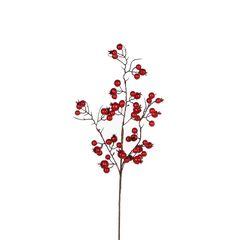 Веточка 55см House of Seasons Красные ягоды