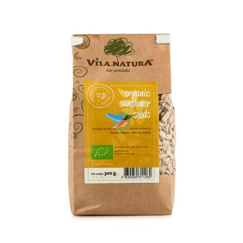 Семена подсолнечника очищенные сырые BIO, 300 гр (Vila Natura)