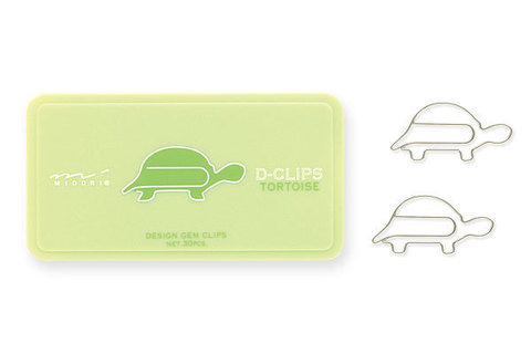 Скрепки Midori D-Clips Tortoise (30 шт.)