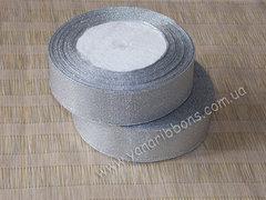 Лента парча серебряная шириной 4 см