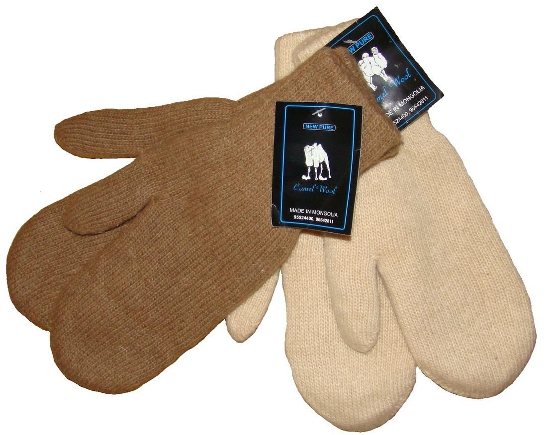 Варежки из шерсти верблюда  фото1