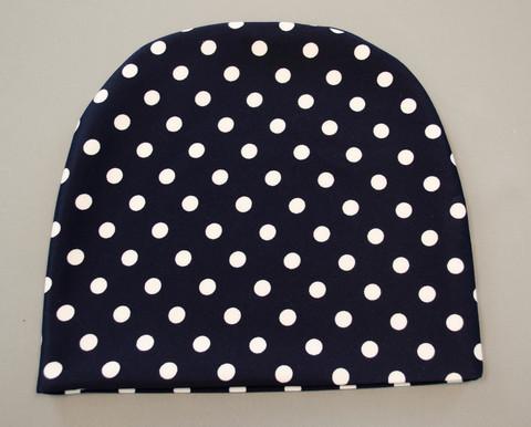 Фэшн. Молодёжные женские шапки. Берный горох на синем.