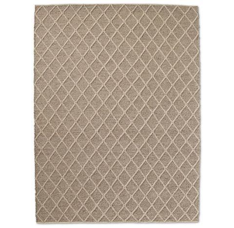 Braided Diamante Flatweave Rug - Marled