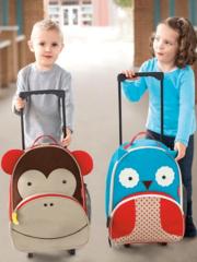 Детский дорожный чемодан на колесиках с ручкой Обезьяна