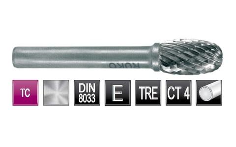 Бор-фреза Ruko твердосплавная E(TRE) 16,0х25мм S=6мм 116215