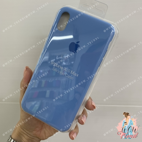 Чехол iPhone XS Max Silicone Case /cornflower/ синие сумерки original quality