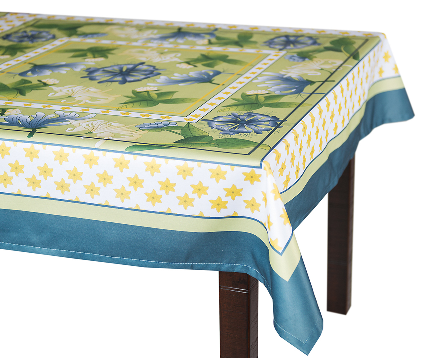 Скатерть 140x180 Blonder Home Spring зеленая