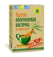 Кисель овсяно-льняной, Компас Здоровья, с фруктозой, Облепиховая косточка, коробка, 150 г