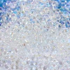58205/ Бисер Preciosa Фарфаль (Farfalle) 4х2 мм прозрачный радужный