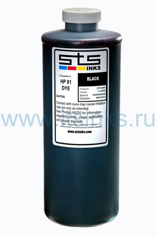 Латексные чернила STS для HP L26500\L28500 Black 1000 мл