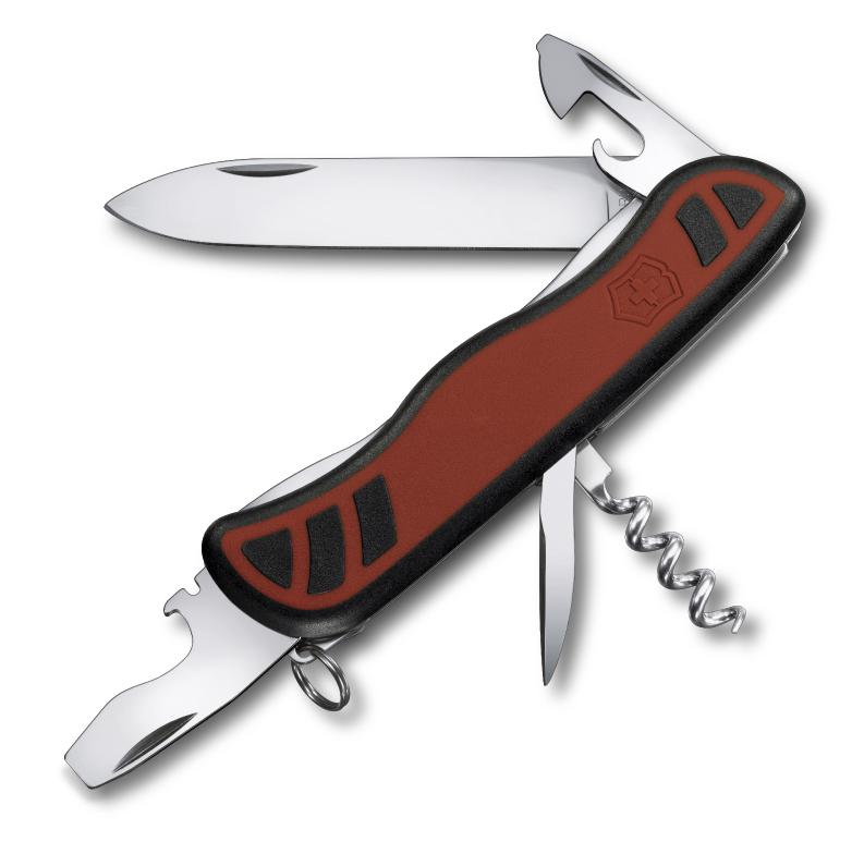 Нож Victorinox Nomad, 111 мм, 9 функций, красный с чёрным