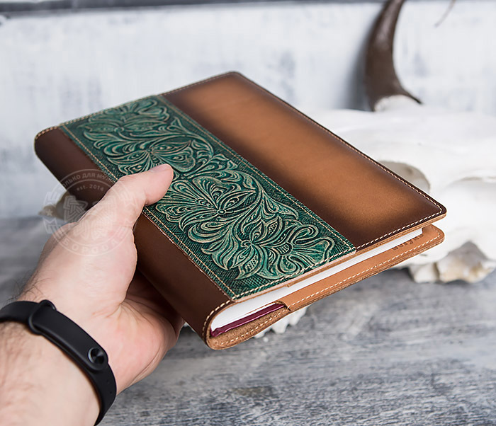 BY05-12-02 Подарочный кожаный ежедневник с рисунком «Шеридан» (формат А5) фото 05