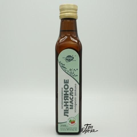 Масло Льняное холодного отжима нерафинированное ОБРАЗ ЖИЗНИ, 250 мл