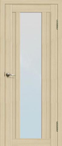 Дверь La Stella 205, стекло матовое, цвет ясень латте, остекленная