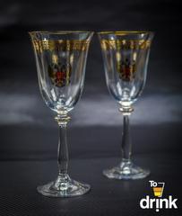 Подарочный набор из 2 хрустальных фужеров под вино
