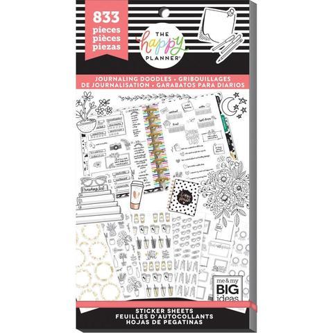 Блокнот со стикерами для ежедневника Create 365 Happy Planner StickerHappy Journal Decorative - 833 шт