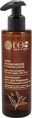 EO Laboratorie Мусс для умывания Тонизирующий для комбинированной и жирной кожи С АНА-кислотами 200 мл