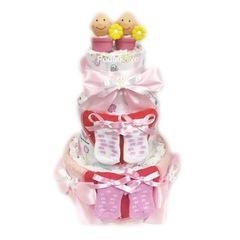 Торт из японских подгузников для двойняшек