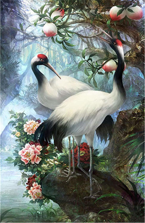 Картина раскраска по номерам 30x40 Птицы на камне– купить ...